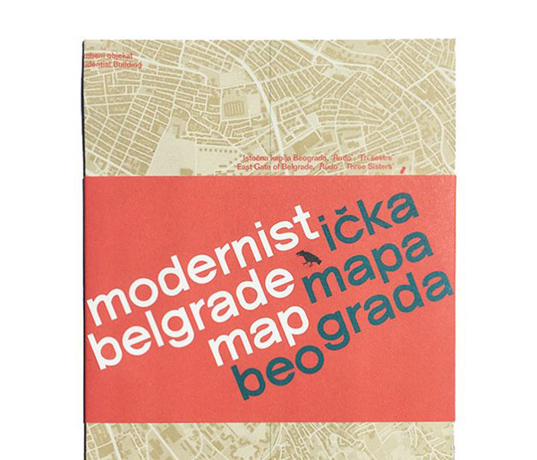 Out now: Modernist Belgrade Map by Blue Crow Media