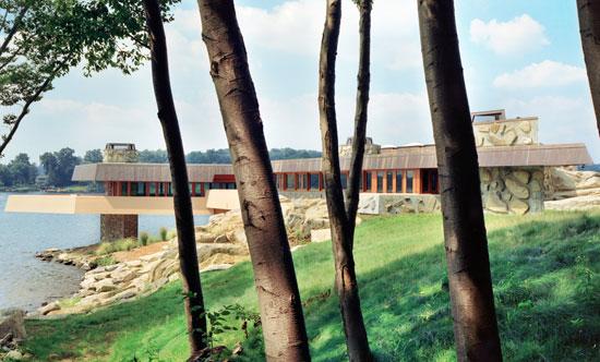 12. Frank Lloyd Wright-designed house on Petre island, Lake Mahopac, New York, USA