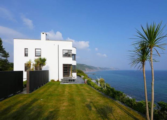 Gradna House 1930s coastal art deco property in Plaidy, near Looe, Cornwall