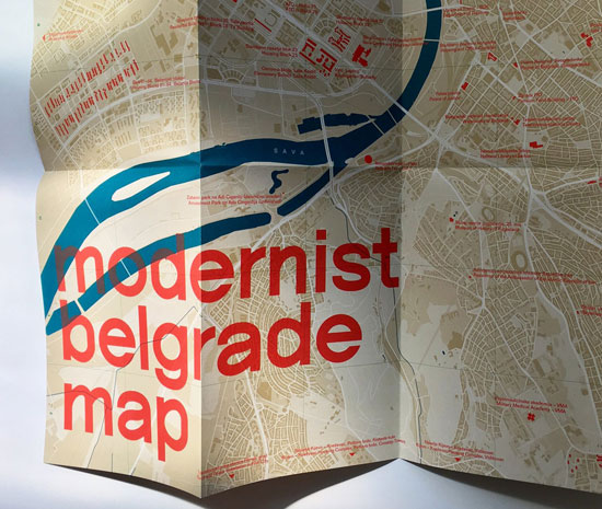 Modernist Belgrade Map by Blue Crow Media