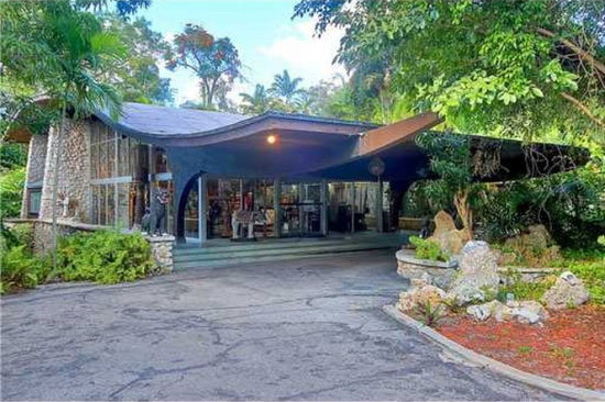 21. Otto F.Seeler-designed 1960s midcentury house and movie location in Coconut Grove, Miami, Florida
