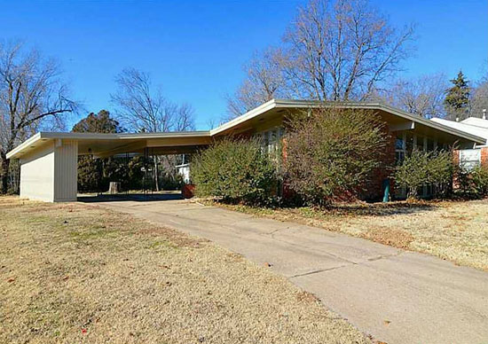 22. 1950s Cecil Stanfield-designed midcentury modern property in Tulsa, Oklahoma, USA