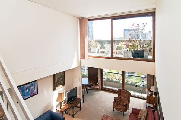 27. Barbican living: Split level apartment in Mountjoy House on the Barbican Estate, London EC2