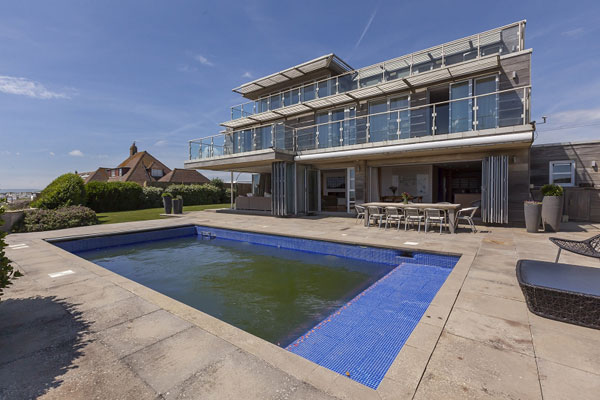33. Coastal modernism: Six-bedroom property at Cooden Beach, Bexhill, East Sussex
