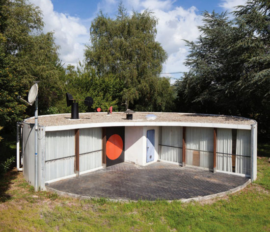 40. 1960s Serge Binotto-designed circular property in Mirepoix, Ariege, south west France