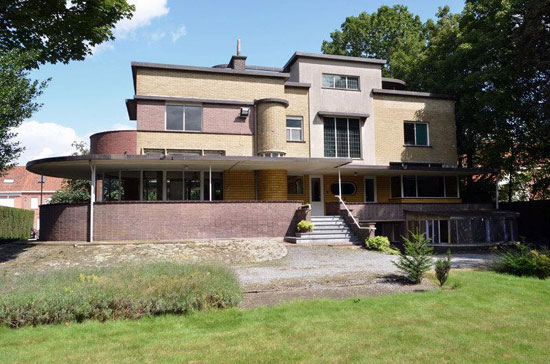 5. 1930s Gentiel Eeckhoutte-designed art deco property in Waregem, Belgium