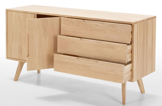 7. Jenson oak sideboard at Made