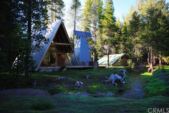 On the market: 1960s A-frame house and additional buildings in Bass Lake, California, USA