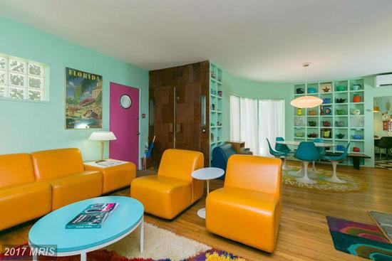1940s B.N. Eisenberg-designed art deco property in Baltimore, Maryland, USA