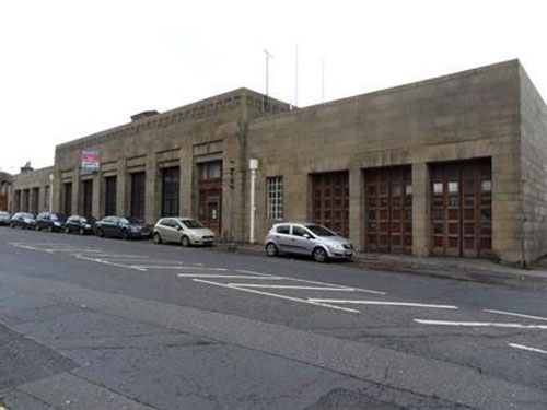 Disused 1930s fire station in Accrington, Lancashire