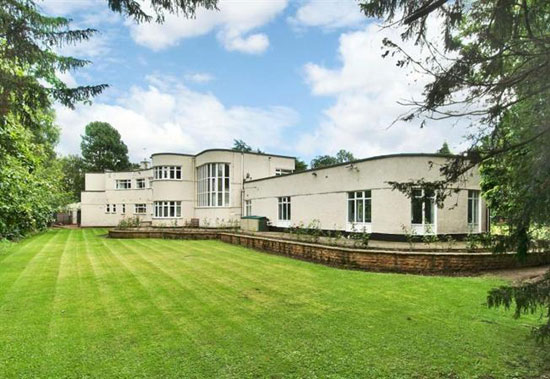 1930s Adams Hill seven bedroom art deco house in Nottingham, Nottinghamshire
