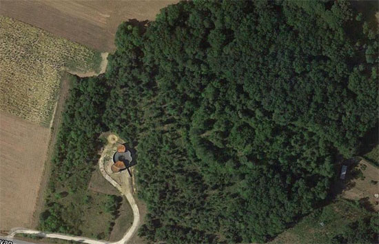 Aerial photo of the location