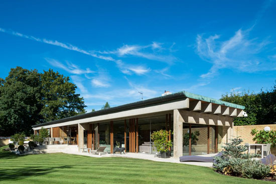 On the market: 1960s Jorn Utzon-designed Ahm House in Harpenden, Hertfordshire