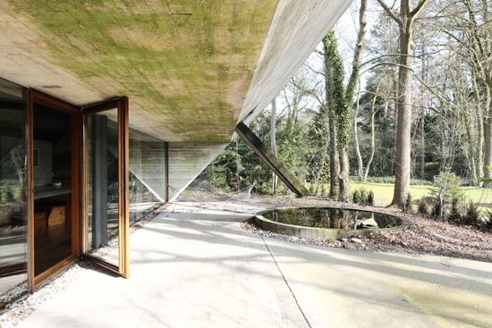 1. 1970s Julian Lampens-designed brutalist property in Sint-Martens-Latem, Belgium