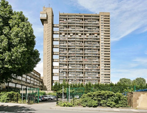 5. Erno Goldfinger-designed Trellick Tower, London W10