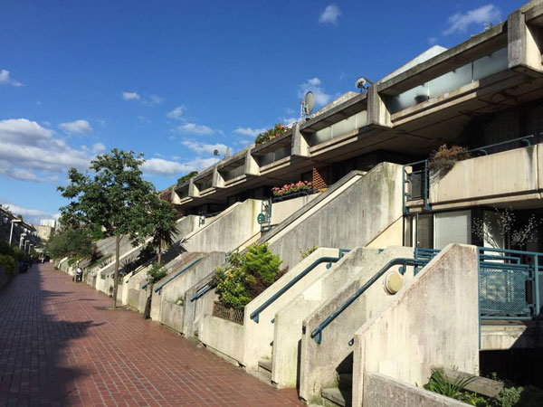 6. 1970s Neave Brown-designed brutalist apartment in Rowley Way, London NW8
