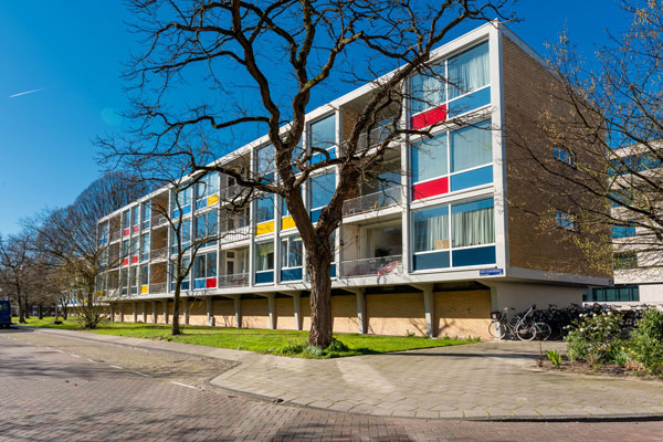 1950s Allert Warners De Warnersblokken apartment in Amsterdam, Holland