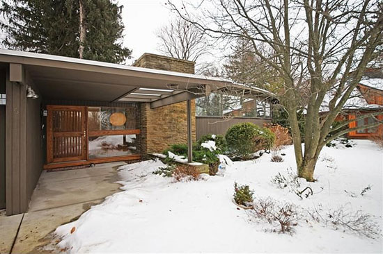 1950s George Brigham-designed midcentury modern property in Ann Arbor, Michigan, USA