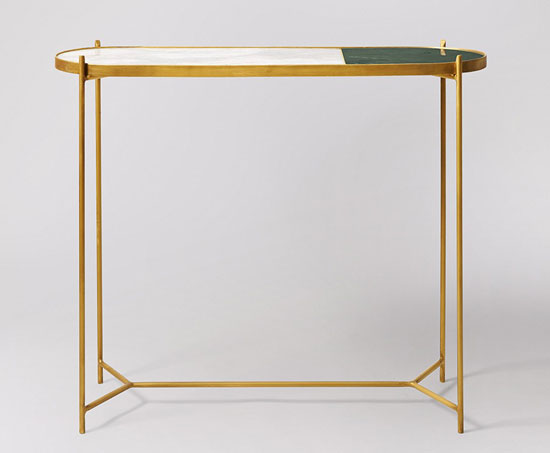 Aravali art deco-style console table at Swoon Editions