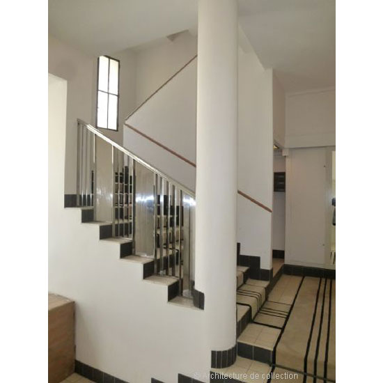 1920s Robert Mallet-Stevens-designed modernist apartment in Paris, France