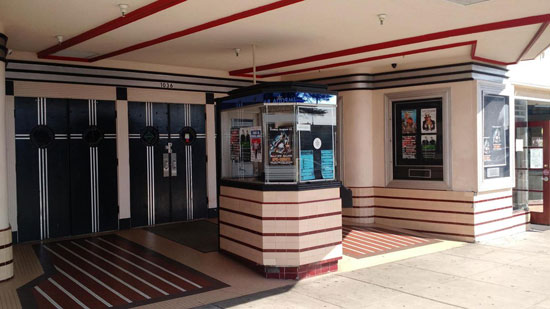 1930s art deco cinema, retail and living space in Arcata, California, USA