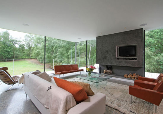 Archplan-designed contemporary modernist house in Farnham, Surrey