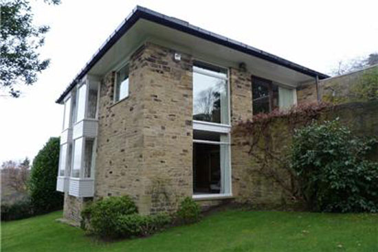 1960s Arthur Quarmby-designed modernist property in Almondbury, near Huddersfield, West Yorkshire