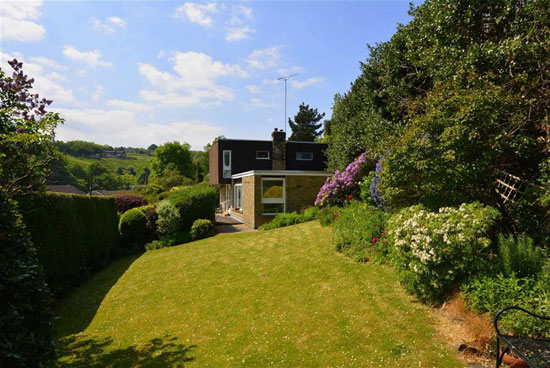 In need of renovation: 1960s Arthur Quarmby-designed modernist property in Holmfirth, West Yorkshire