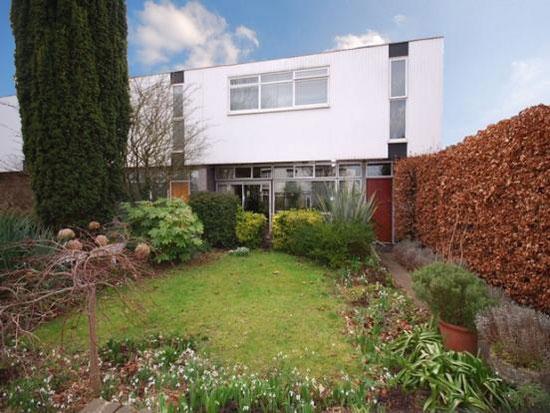 On the market: 1960s Edward Schoolheifer-designed three-bedroom Lyon house in Manygate Lane, Shepperton, Middlesex