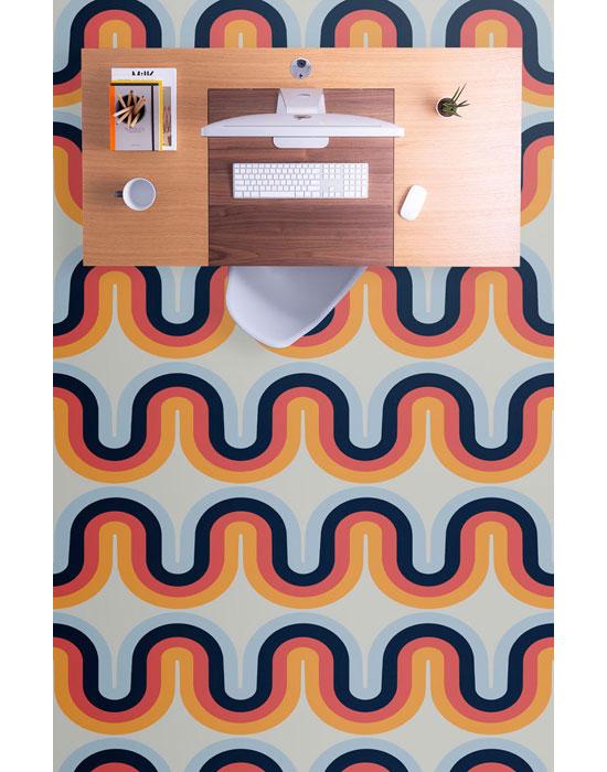 Bold 1970s vinyl flooring by Atrafloor