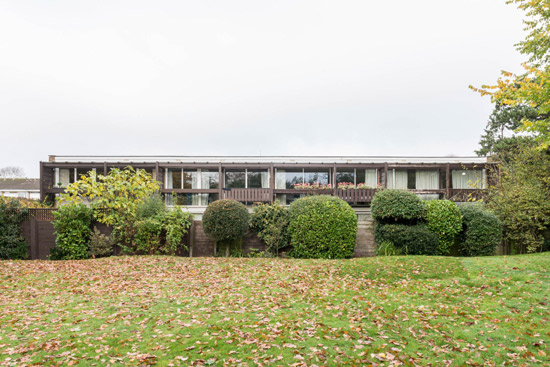 1960s Atelier 5 modern house on St Bernards estate, Croydon, Greater London