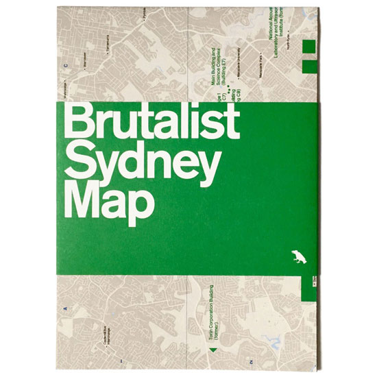 Brutalist Sydney Map by Blue Crow Media