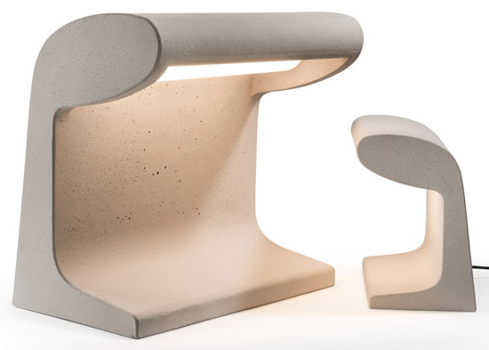 Nemo reissues Le Corbusier's Borne Beton lamp