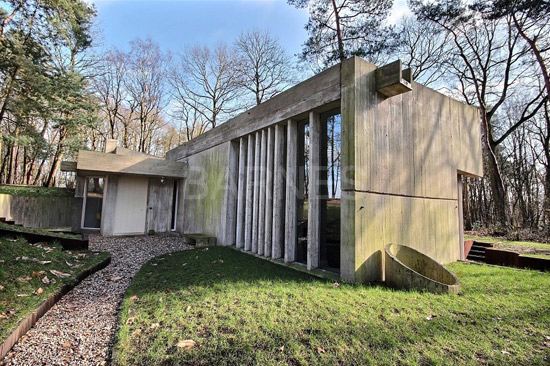On the market: 1970s Marc Corbiau-designed brutalist property in Glabais, Belgium