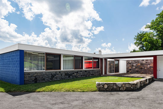Marcel Breuer's Vera Neumann house in Croton-on-Hudson, New York, USA