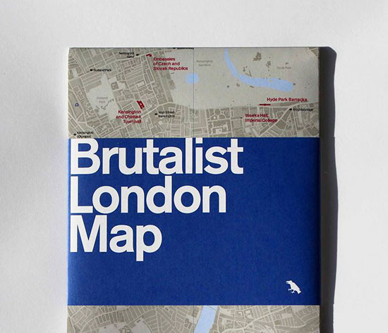 Brutalist London Map by Blue Crow Media