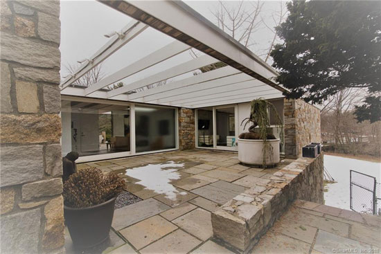 Marcel Breuer-designed David N Clark house in Orange, Connecticut, USA