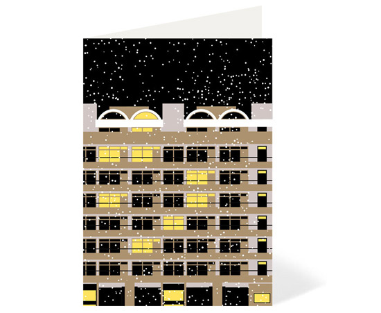 Barbican Estate at 50 Winter Edition cards by Stefi Orazi