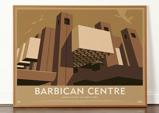 Architectural artwork: The Barbican Estate prints by Dorothy