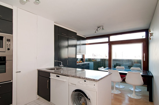 Split-level apartment in the Chamberlin, Powell & Bon-designed Barbican, London EC2Y