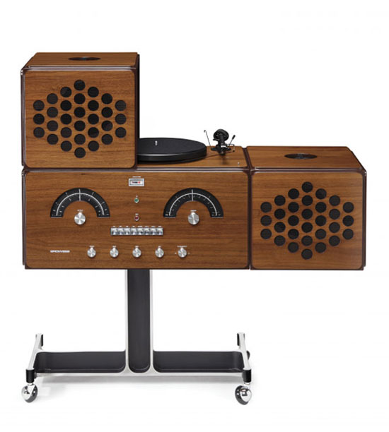 Numbered edition 1960s Radiofonografo record player by Brionvega