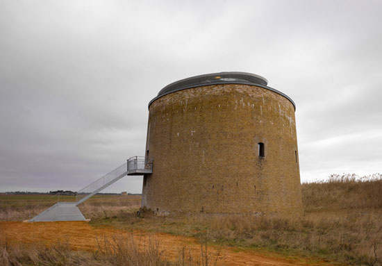 Award-winning 19th century martello tower conversion in Bawdsey, Suffolk