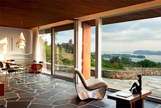 Marcel Breuer's Vera Neumann house in Croton-on-Hudson, New York, USA