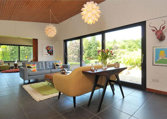 1960s A. Monrad-Hansen-designed midcentury property in Barnt Green, Worcestershire