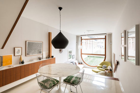 On the market: 1960s Chamberlin, Powell & Bon-designed apartment in Brandon Mews, Barbican Estate, London EC2