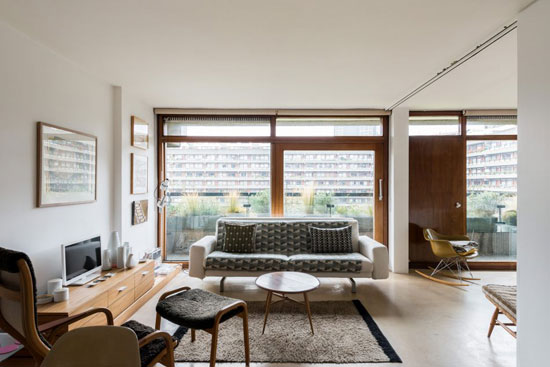 On the market: 1970s Chamberlin, Powell & Bon-designed apartment in Defoe House on the Barbican Estate, London EC2