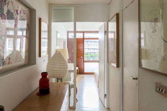 1970s Chamberlin, Powell & Bon-designed apartment in Defoe House on the Barbican Estate, London EC2