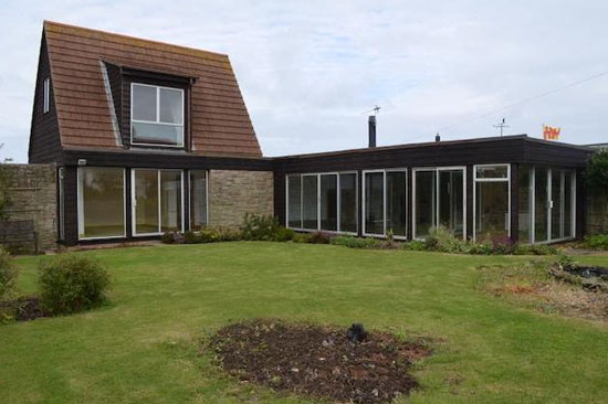 In need of renovation: 1960s three-bedroom modernist property in Beadnell, Northumberland