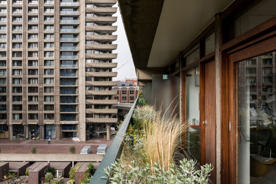 1970s Chamberlin, Powell & Bon-designed apartment in Defoe House on the Barbican Estate, London EC2