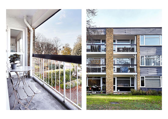 1960s modernist apartment in Barnes, London SW13